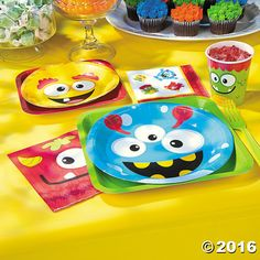 Celebrate your little monster in style with this party pack! Perfect for a first birthday party or a kids' party, these party supplies feature . Little Monster Birthday, Monster 1st Birthdays, Monster Birthday Parties, First Birthdays, 1st Birthday Party Themes, Birthday Bash, Birthday Ideas, Happy Birthday, Monster Baby Showers