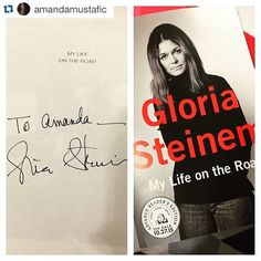 "Repost from @amandamustafic: ""Today, I got a book signed by one of my heroes. #feminism #bea15"""