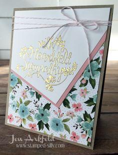 Heartfelt Sympathy..Birthday Bouquet designer paper from Stampin Up
