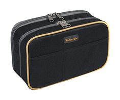 Pencil Case Homecube Large Capacity Pen Bag Makeup Pouch Durable Students Stationery Two Big Pockets With Double Zipper 87x6x32 Black >>> Click image to review more details. (Note:Amazon affiliate link)