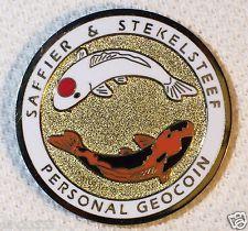 Saffier & Stekelsteef 2006 - Koi - Gold Finish - New Unactivated Geocoin