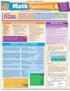 This fantastic overview of statistics, measures of central tendency, graphing and more is great for middle and high school students. It will help boost math confidence and test scores. This 4-page guide includes: data collection & analysis, graphing data, measures of central tendency, interpreti