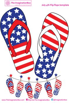 Celebrate July 4th, make flipflop bunting! A template to color your own is also available to download and keep the kids occupied!