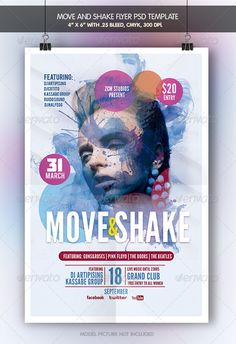 Move and Shake   Flyer Template