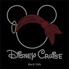 Disney Cruise Mickey mouse rhinestone transfer by GetTshirty, $10.00