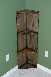 Reclaimed Rustics: Barn Wood Corner Shelf