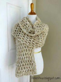 Hermoso chal y sencillo con varetas tejido con lana rústica. Compartido de la web