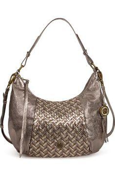 Very cool metallic partially woven bag Elliott Lucca  Intreccio  Hobo  available at 3434bda84d42b