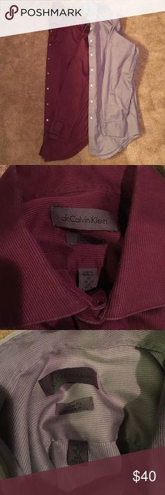 Calvin Klein Dress Shirts - 16 Neck/36-37 sleeve. Lot of 2 Calvin Klein Dress Shirts - 16 Neck/36-37 sleeve.  Slim fit, non-iron. Calvin Klein Shirts Dress Shirts