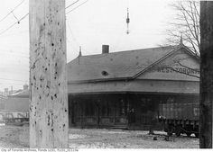 The lost train stations of Toronto West Toronto station 1910