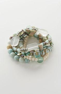 sea glass bracelet stack from J.Jill