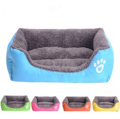 Pet Dog Cat Bed Puppy Cushion House Pet Soft Warm Kennel Dog Mat Blanket Blue Color ** Insider's special review you can't miss. Read more  : Pet dog bedding