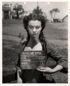 La prova trucco di Vivien Leigh nel ruolo di Rossella O'Hara. - (Harry Ransom Center)