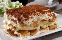 A classic tiramisu recipe that was the Christmas treat the Cicchiello family looked forward to every year. Rosa's version of Tiramisu has no added sugar. Italian Desserts, Köstliche Desserts, Best Dessert Recipes, Italian Recipes, Easy Recipes, Cooking Recipes, Low Fat Cream Cheese, Tiramisu Dessert, Cheesecakes