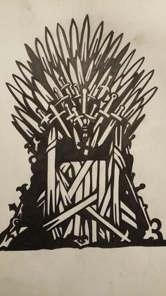 Game of Thrones- Iron throne stencil