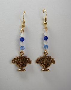 Chanukkah Menorah Earrings by nightdayaccessories on Etsy, $15.00