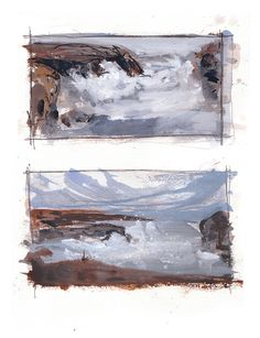 Landscape Sketch, Abstract Landscape Painting, Watercolor Landscape, Abstract Watercolor, Landscape Paintings, Watercolor Paintings, Watercolours, Sketchbook Inspiration, Painting Inspiration