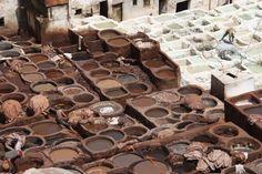 Garbarnia skór Chouwara - Fez, Maroko