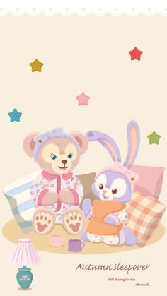 Wallpaper Doodle, Cute Anime Wallpaper, Cute Cartoon Wallpapers, Pastel Wallpaper, Disney Phone Wallpaper, Friends Wallpaper, Iphone Wallpaper, Screen Wallpaper, Duffy The Disney Bear