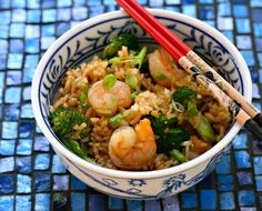 The Perfect Pantry: Shrimp, broccoli and scallion fried rice