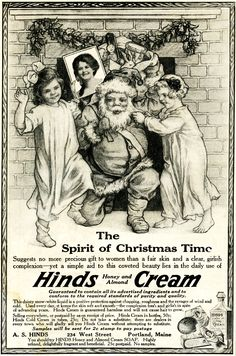 Vintage Christmas Ad ~ Hinds Honey and Almond Cream ~ The Ladies' World * December 1914