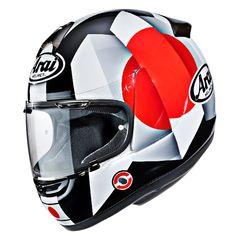 Arai Helmets - JPmotorcyclehelmet: Motorcycle Helmet, Parts & Accessories Arai Helmets, Custom Helmets, Motosport, Helmet Design, Riding Gear, Mini Bike, Motorcycle Helmets, Motorbikes, Tazo