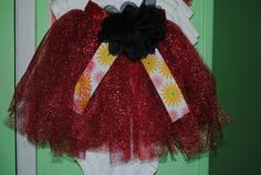 Red Sun Dance Tutu  Baby Skirt  03 mts by Nameitgotit on Etsy, $20.00