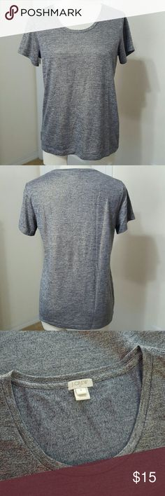 J.Crew Shimmer T-shirt Poly/Rayon. Heathered Navy with Gold metallic threads. Short sleeves. In new condition. J. Crew Tops Tees - Short Sleeve