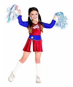 Take a look at this Red & Blue Cheerleader Dress - Toddler & Girls by Rubie's on #zulily today!