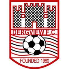 Dergview F. Football Team, Soccer Teams, British Football, Crests, Northern Ireland, Irish, Rugby, Badges, San