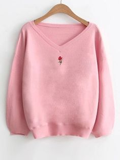 GET $50 NOW | Join Zaful: Get YOUR $50 NOW!https://m.zaful.com/lantern-sleeve-embroidered-v-neck-sweater-p_433532.html?seid=6326499zf433532