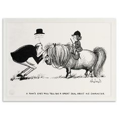 Norman Thelwell - A Pony's Eyes, Limited Edition Print, 35x28cm