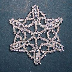 completed snowflake pattern