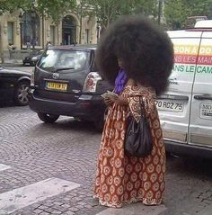 Wow this is crazy how long did it take to get her Fro this Big!!