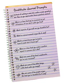 Keep a gratitude journal! Would be a cool thing to do for myself and/or for a D-Now weekend!-JB