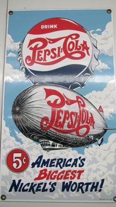 The Pepsi-Store - The Birthplace of Pepsi-Cola. Shop for historic Pepsi memorabilia, visit the original Pepsi store and learn about the inventor of Pepsi, Caleb Bradham. Old Advertisements, Retro Advertising, Vintage Ads, Vintage Signs, Vintage Photos, Pepsi Cola, Diet Pepsi, Old Signs, Old Ads