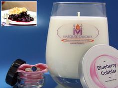 Blueberry Cobbler Scented Marquee Candle with Fine Jewelry Prize Inside.