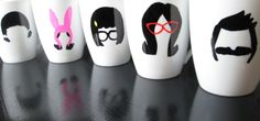 Bob's Burgers Mugs  Set of All 5 Mugs by Fendersmom on Etsy, $40.00...my tea and coffee going perfect in these :)