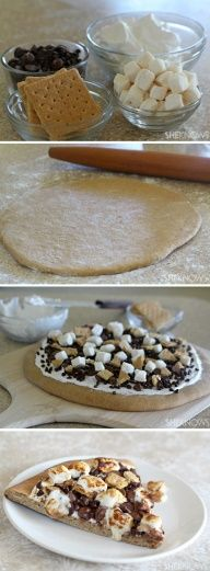 Smores Pizza...the best pizza in this world! :)