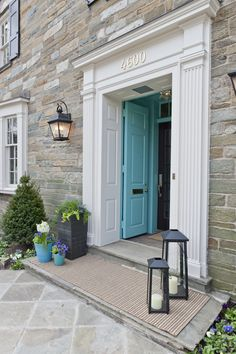 Front Door Paint Colors - Want a quick makeover? Paint your front door a different color. Here a pretty front door color ideas to improve your home's curb appeal and add more style! House Design, House Front, Historic Homes, House Exterior, Beautiful Homes, Front Door, Beautiful Doors, Doors, Bright Front Doors