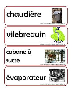 French Classroom, French Language Learning, Quebec, Activities For Kids, Teaching, Education, Maple Syrup, Fairy Gardens, Tour