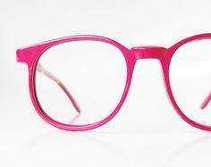 169be33c530 Clear Pink Round Eyeglasses 1980s Bubblegum by OliverandAlexa Pink  Eyeglasses