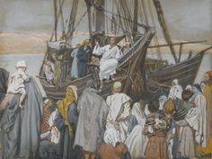 James Tissot - Jésus prèche dans une barque