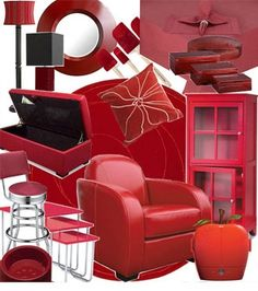 red decor for the home