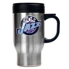 Utah Jazz Stainless Still Primary Travel Mug