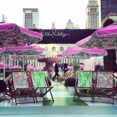 Lilly for Target media event in Bryant Park. Bringing Palm Beach to the Big Apple!
