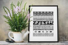 Black and White Geometric Tribal & Nature Play by PomGraphicDesign