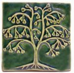Handmade Ceramic Art Tiles by Emu Tiles of Kent, Ohio - Arts and Crafts Style