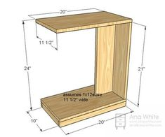 DIY Furniture Plan from Ana- This simple little C table makes a modern nightstand or a quick snack table. Rolls under the couch to put a laptop in your lap. Diy Sofa Table, C Table, Diy Furniture Couch, Sofa Side Table, Diy Furniture Plans, Furniture Stores, Sofa Tables, Furniture Dolly, Furniture Outlet