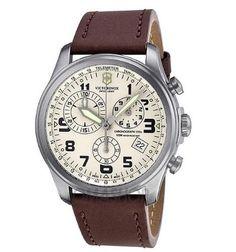 Victorinox Infantry Vintage Chronograph Beige Dial Men's Watch 249050 #Victorinox
